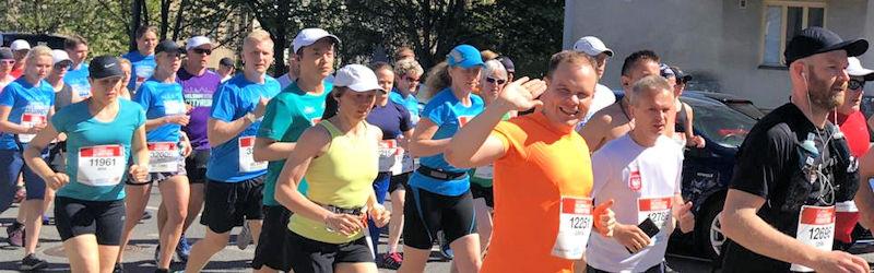 Helsinki City Marathon nautiskellen maaliin